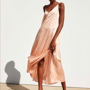 Zara satin dress small
